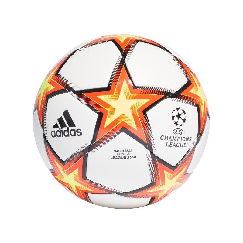 adidas UCL Finale 21 LGE Lightball 350 Gramm Weiss - weiss