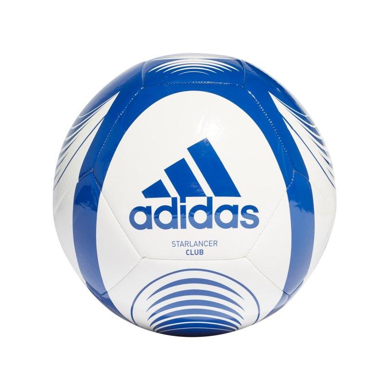 adidas Starlancer Club Fussball Weiss Blau - weiss