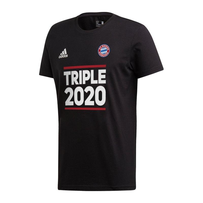 adidas FC Bayern München Triple 2020 T-Shirt Schwarz - schwarz