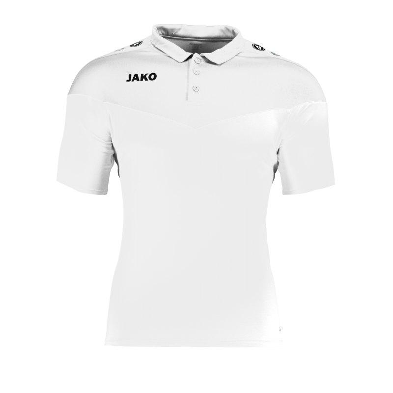 Jako Champ 2.0 Poloshirt Damen Weiss F00 - weiss