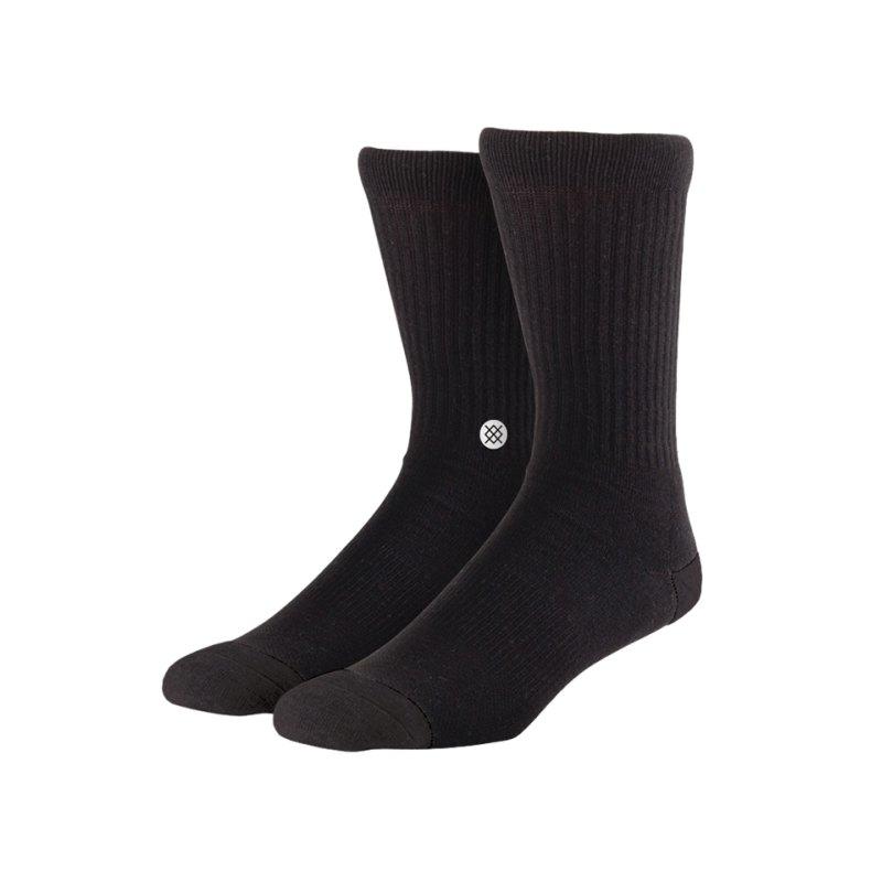 Stance Socks Uncommon Solids Icon Schwarz - schwarz