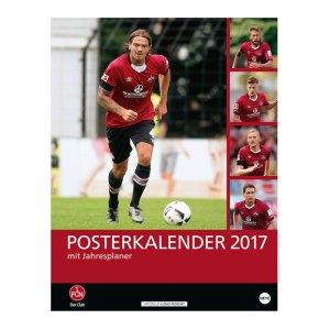1. FC Nürnberg 2017 Posterkalender Rot Schwarz - rot