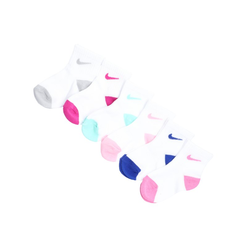 Nike Pop Color Ankle 6er Pack Kids Pink FA8F - weiss