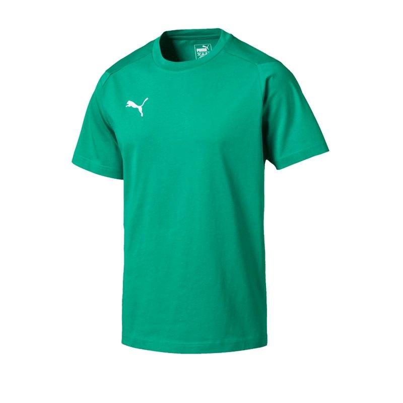 PUMA LIGA Casuals Tee T-Shirt Grün F05 - gruen