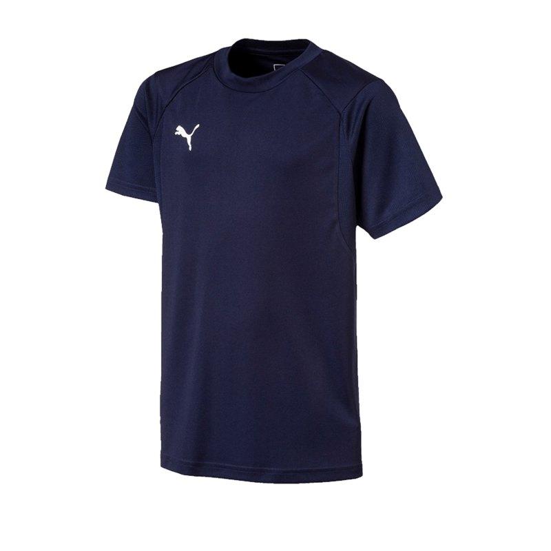 PUMA LIGA Training T-Shirt Kids Blau Weiss F06 - blau