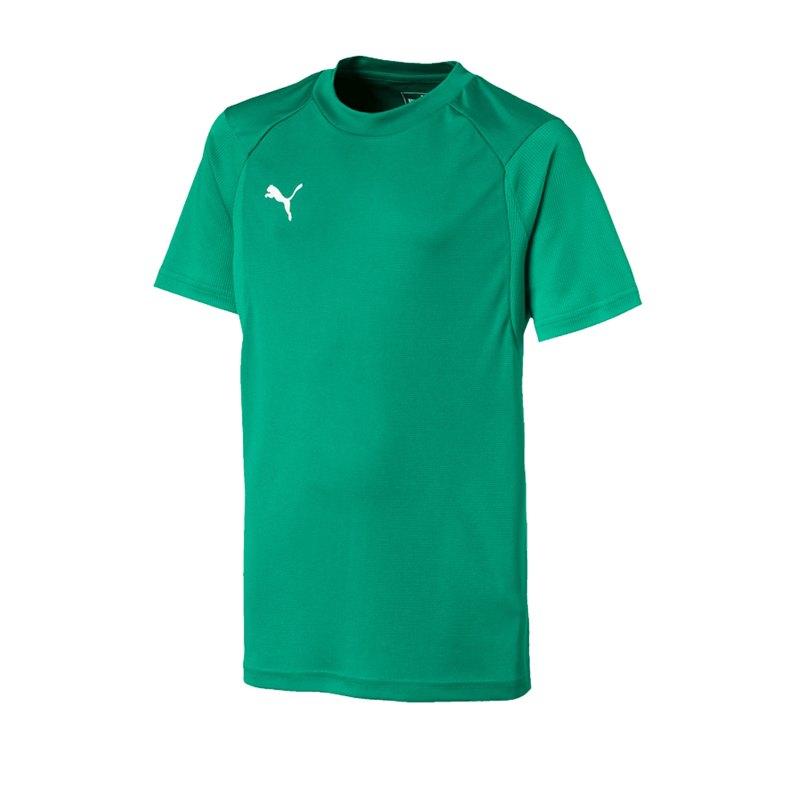 PUMA LIGA Training T-Shirt Kids Grün Weiss F05 - gruen