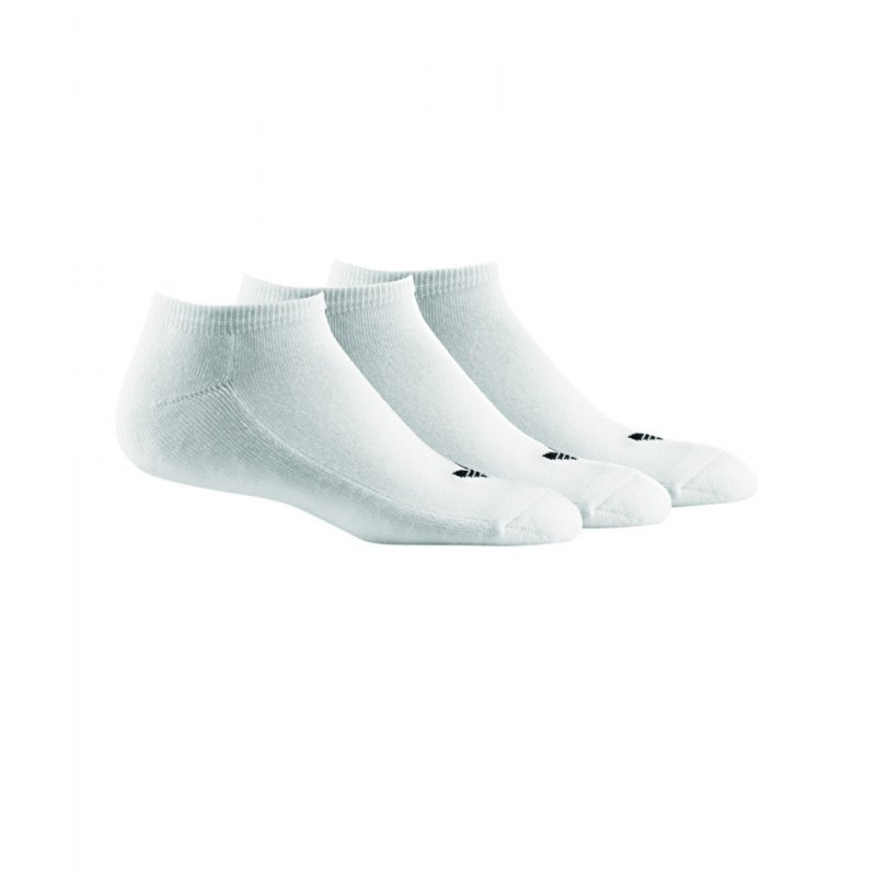 adidas Kurzsocken Trefoil Liner 3er Pack Weiss - weiss