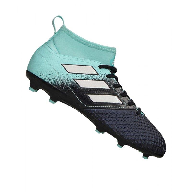adidas FG ACE 17.3 Primemesh J Kinder Blau Weiss - blau