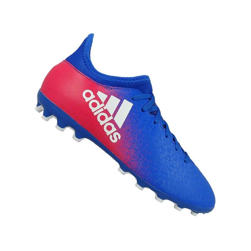adidas AG X 16.3 J Kinder Blau Weiss Pink - blau