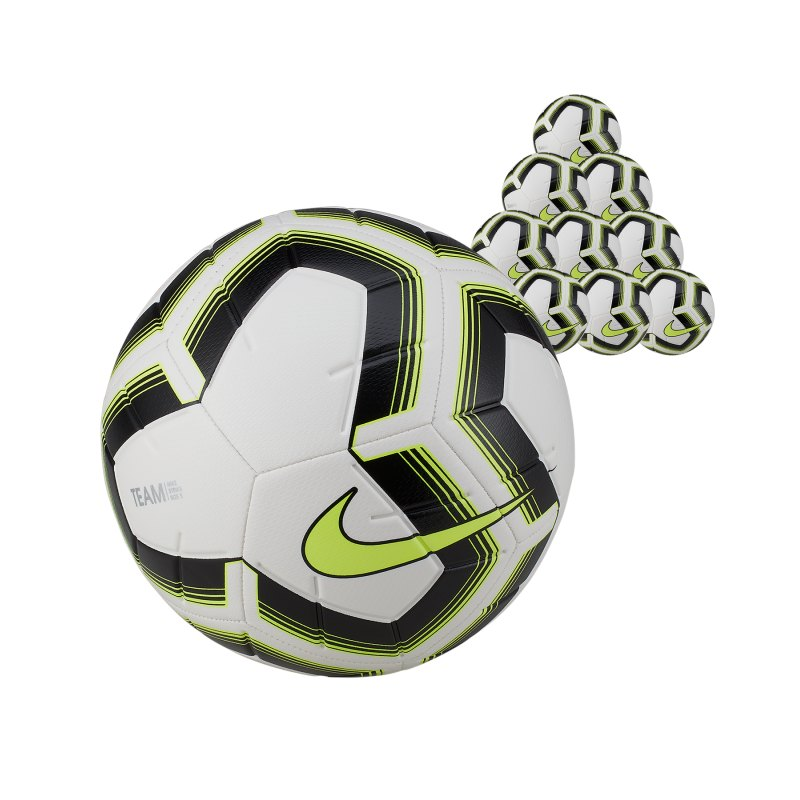 Nike Strike Team 10x Trainingsball Gr.4 Weiss F102 - weiss