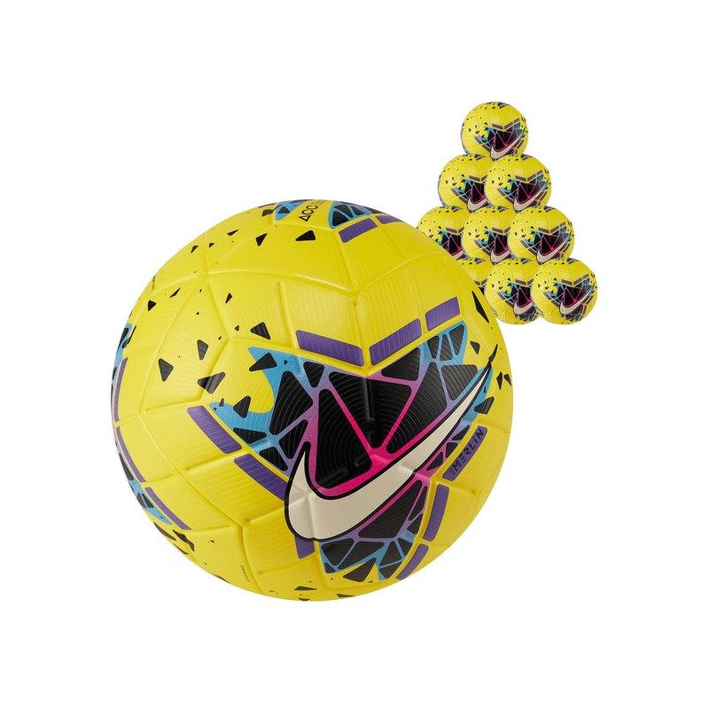 Nike Merlin FA19 Spielball 10x Gr5 Gelb Schwarz F710 - gelb