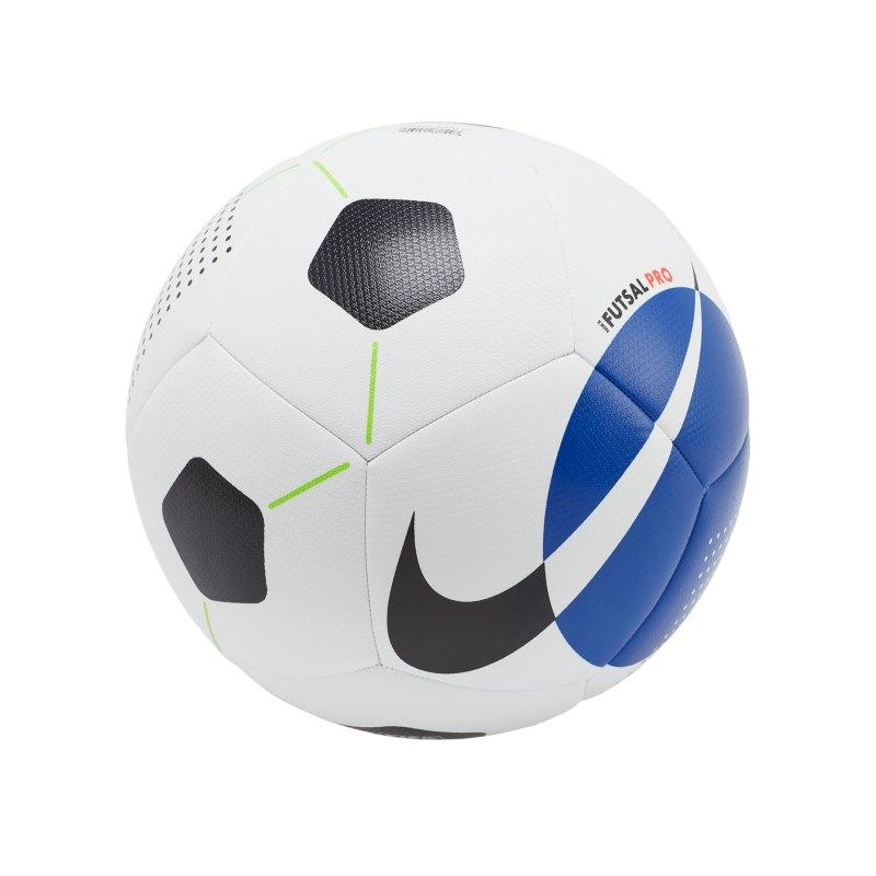 Nike Pro Futsalball Weiss Blau F101 - weiss
