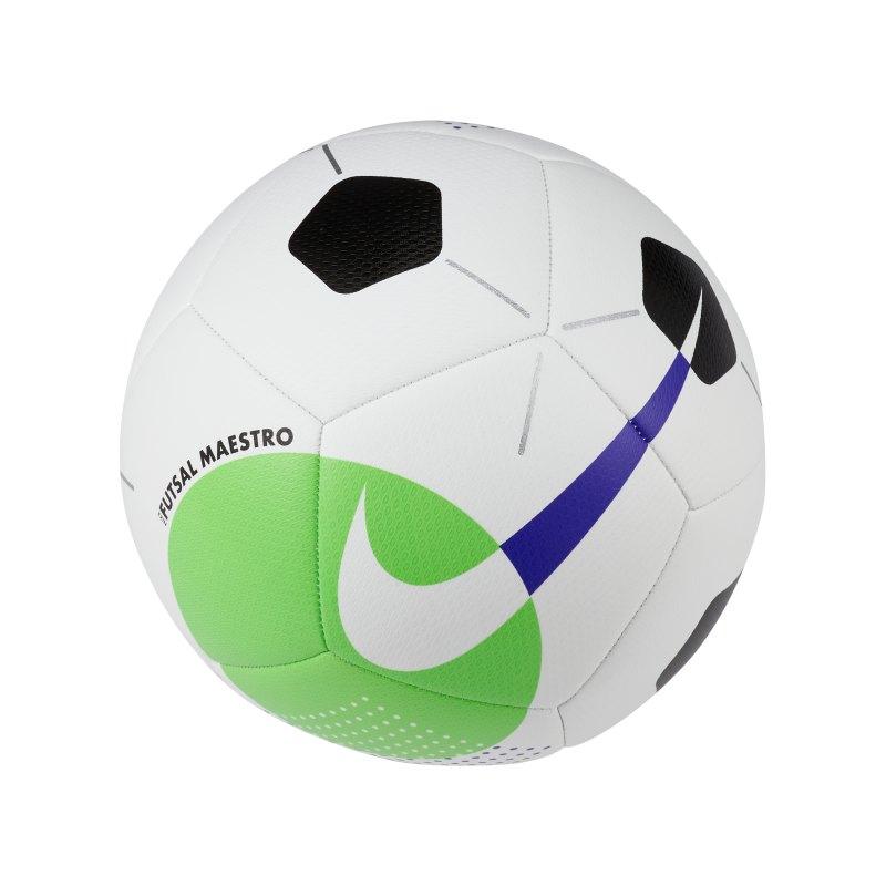 Nike Maestro Trainingsball Weiss Grün F102 - weiss