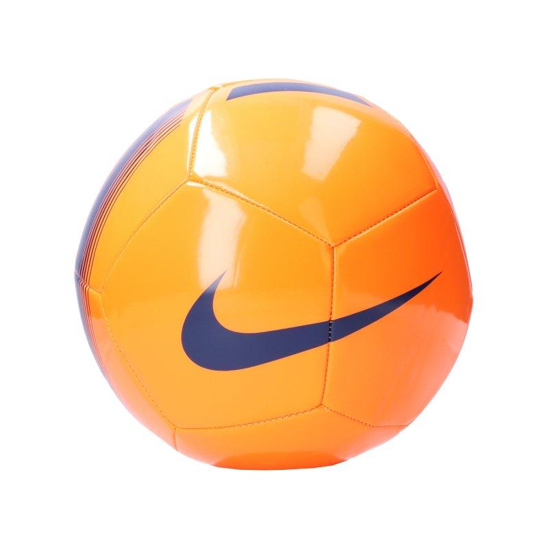 Nike Pitch Team Trainingsball Orange Blau F803 - orange