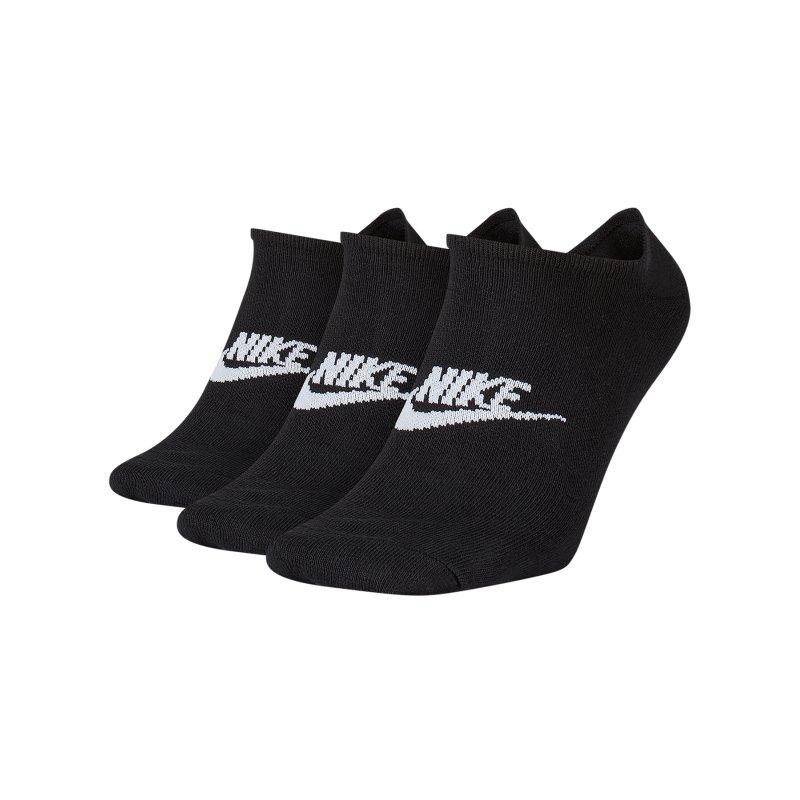 Nike Everyday Essential Füsslinge 3er Pack F010 - schwarz