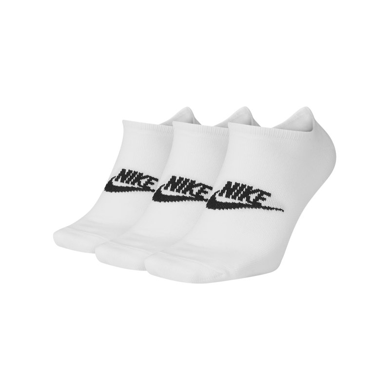 Nike Everyday Essential Füsslinge 3er Pack F100 - weiss