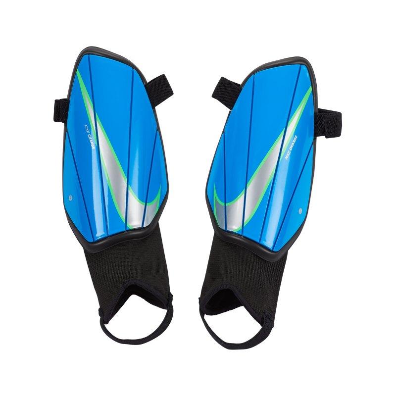 Nike Charge Schienbeinschoner Schwarz Blau F014 - schwarz