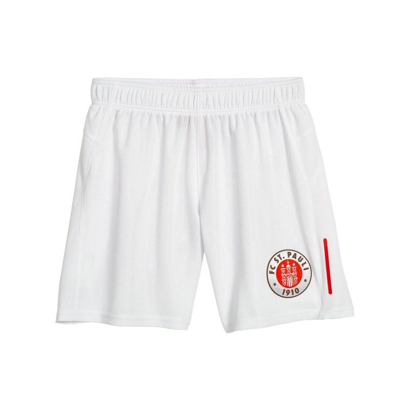 DIIY FC St. Pauli Short Away 2021/2022 Kids Weiss - weiss