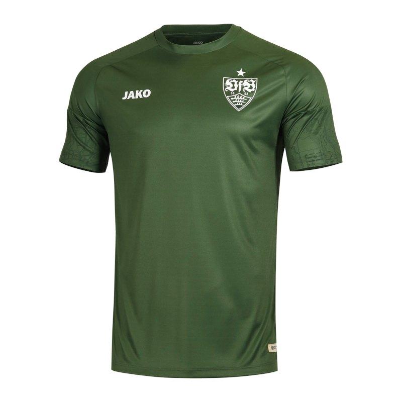 JAKO VfB Stuttgart Recycling T-Shirt Kids Grün F21 - khaki