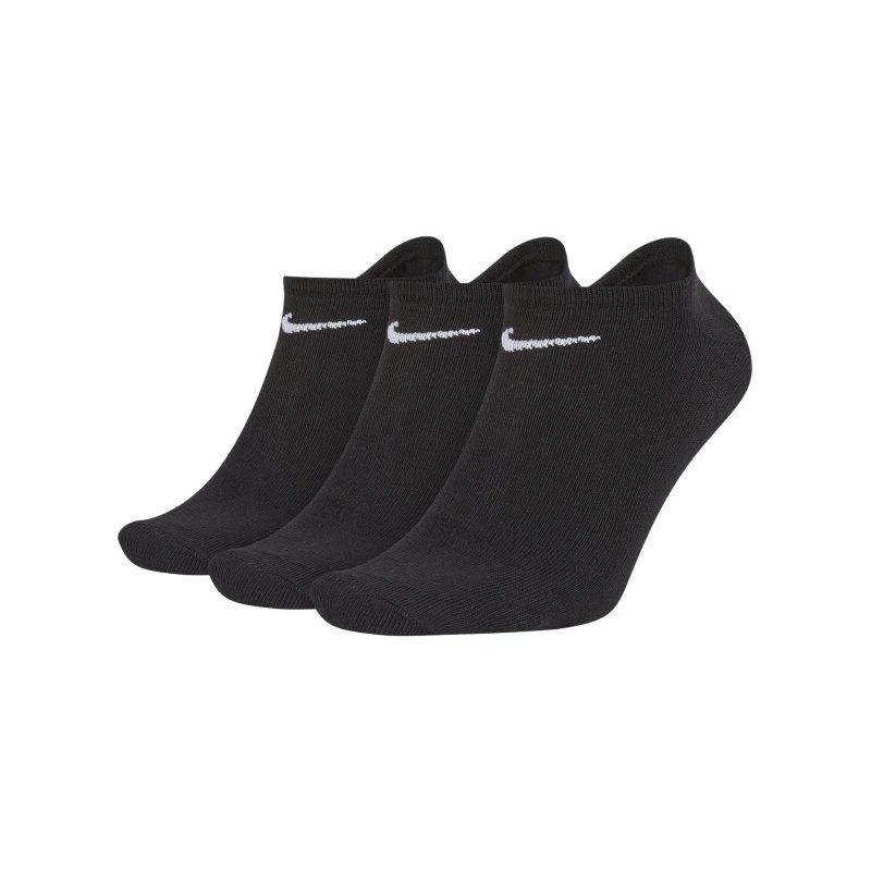 Nike Socken 3er Pack Füsslinge Sneaker F001 - schwarz