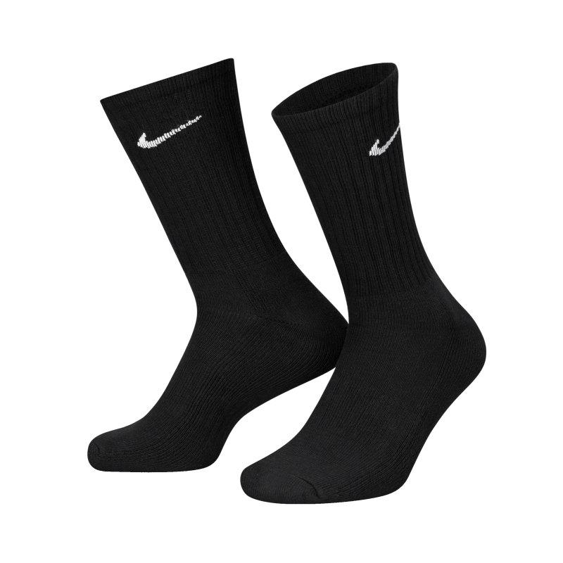 Nike Socken Value Baumwolle Crew 3er Pack F001 - schwarz