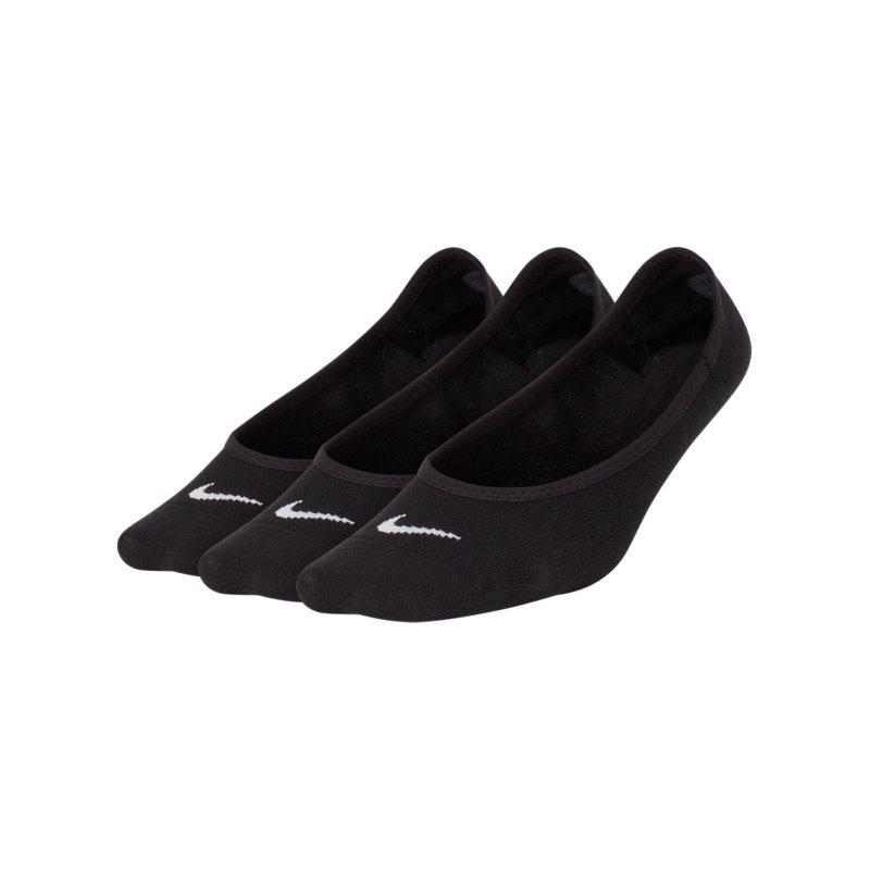 Nike Lightweight 3er Pack Füsslinge Damen F010 - schwarz
