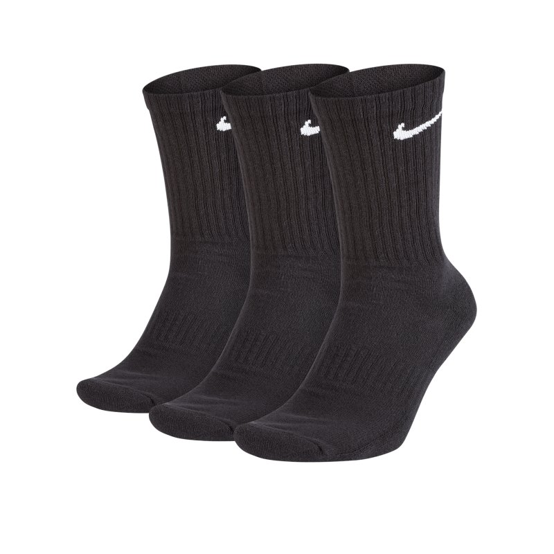 Nike Everyday Cushion Crew 3er Pack Socken F010 - schwarz