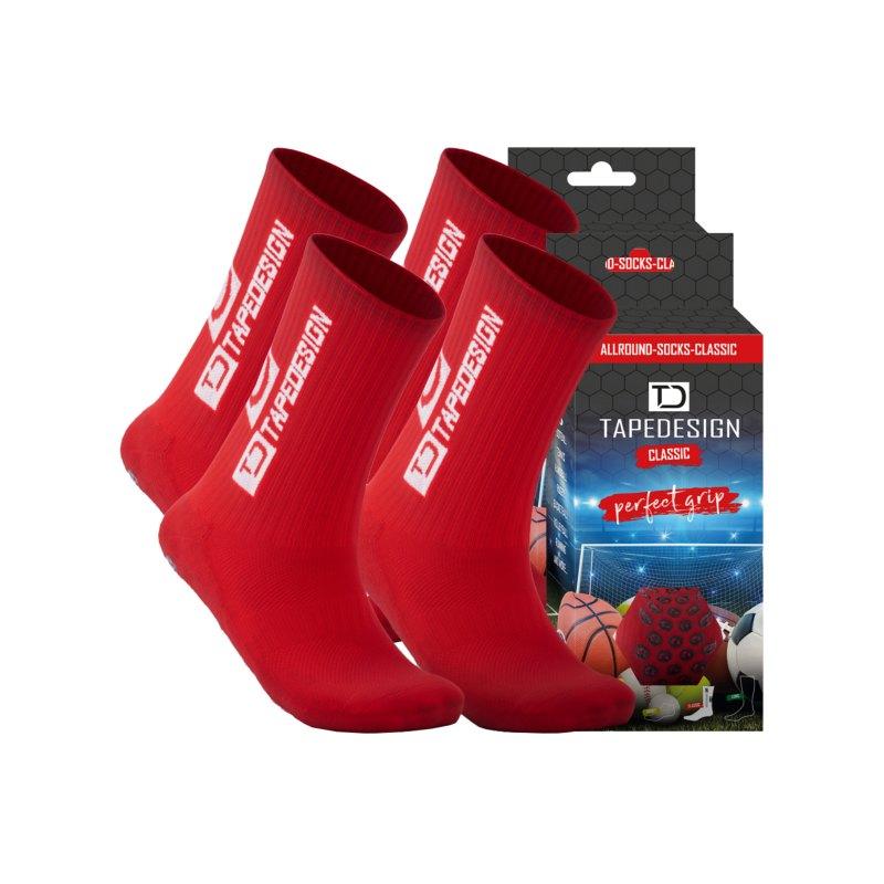 Tapedesign Socks Socken 2er Set Rot F006 - rot