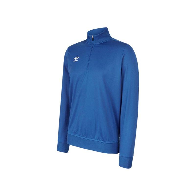 Umbro Club Essential 1/2 Zip Sweat Kids Blau FEH2 - blau