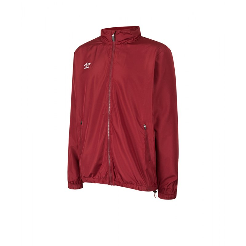 Umbro Club Essential Regenjacke Kids Rot FNCL - rot