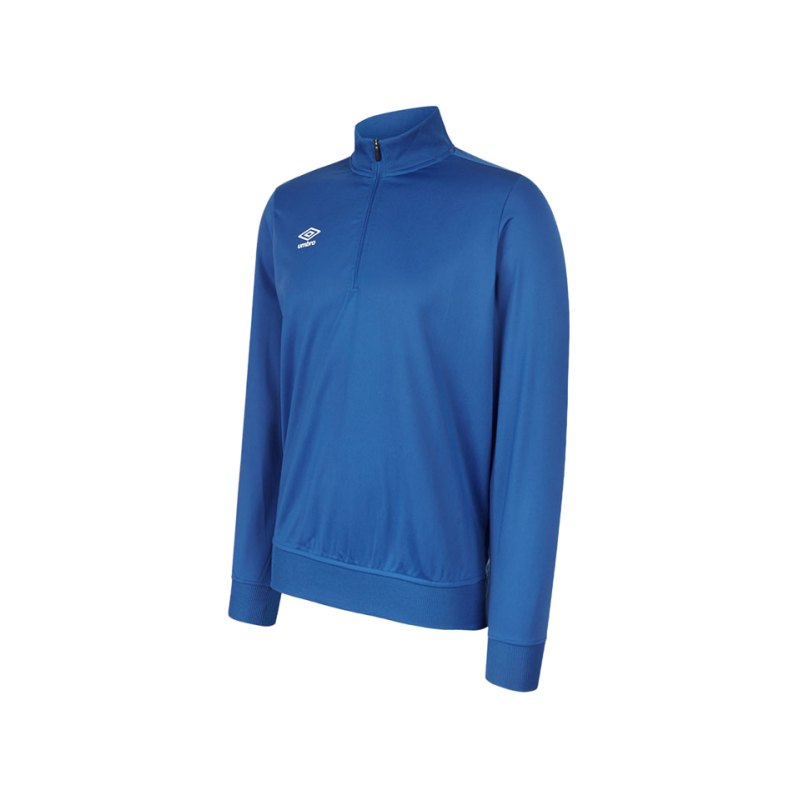 Umbro Club Essential 1/2 Zip Sweater Blau FEH2 - blau