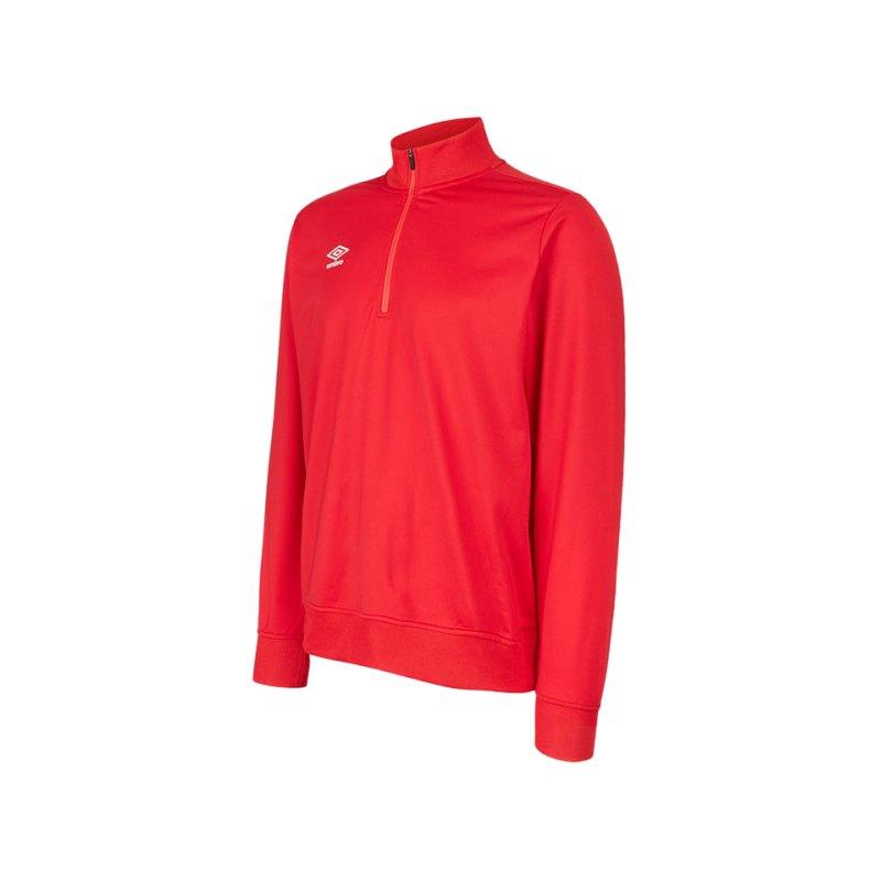 Umbro Club Essential 1/2 Zip Sweater Rot F7RA - rot