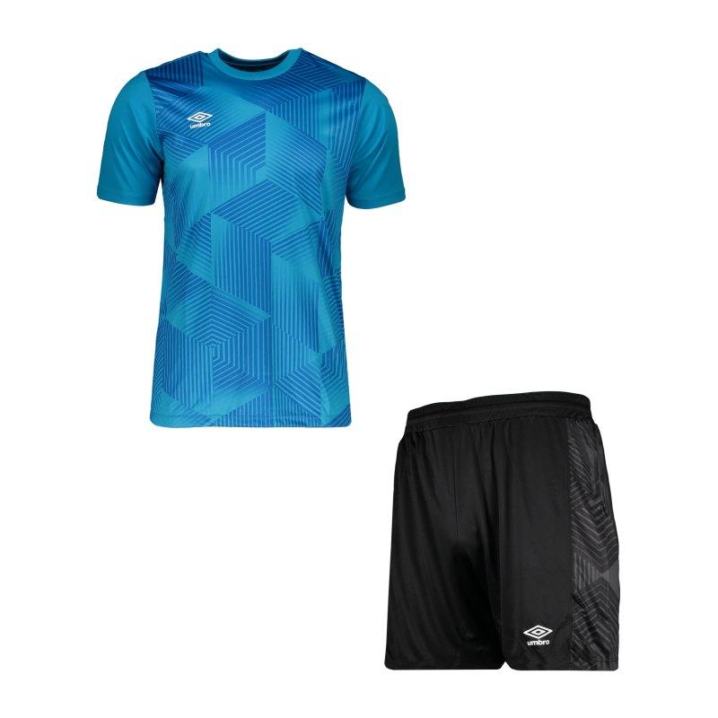 Umbro Maxium Kit Set Blau Schwarz FKZ3 - blau