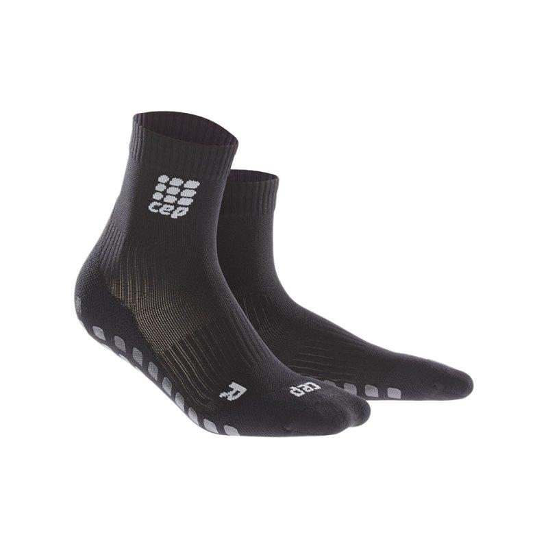 CEP Griptech Short Socks Damen Schwarz - schwarz