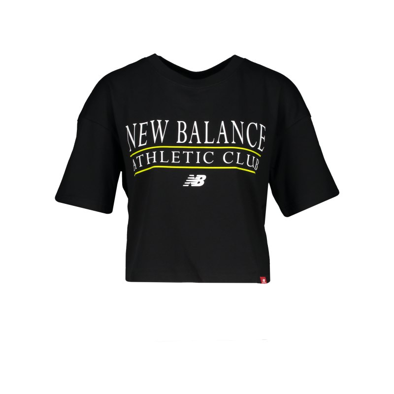 New Balance AC Boxy T-Shirt Damen Schwarz FBK - schwarz