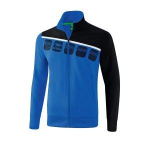 erima-5-c-praesentationsjacke-kids-blau-schwarz-fussball-teamsport-textil-jacken-1011901.png