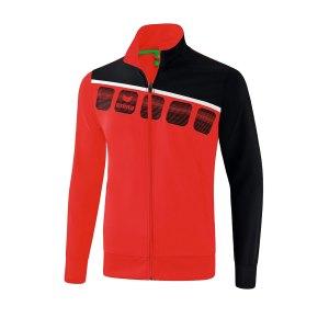 erima-5-c-praesentationsjacke-kids-rot-schwarz-fussball-teamsport-textil-jacken-1011902.png