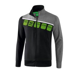erima-5-c-praesentationsjacke-kids-schwarz-grau-fussball-teamsport-textil-jacken-1011904.png