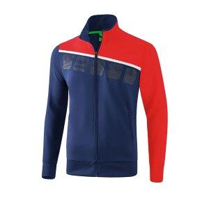 erima-5-c-praesentationsjacke-kids-blau-rot-fussball-teamsport-textil-jacken-1011907.png