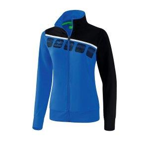 erima-5-c-praesentationsjacke-damen-blau-schwarz-fussball-teamsport-textil-jacken-1011910.png