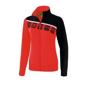 erima-5-c-praesentationsjacke-damen-rot-schwarz-fussball-teamsport-textil-jacken-1011911.png