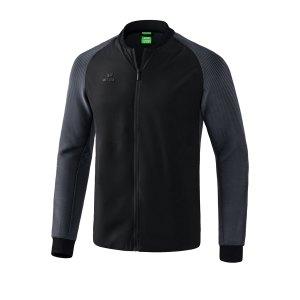 erima-premium-one-2-0-freizeitjacke-schwarz-grau-fussball-teamsport-textil-jacken-1011920.png