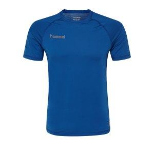 10124924-hummel-first-performance-kurzarmshirt-blau-f7045-204500-underwear-kurzarm.png