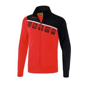 erima-5-c-polyesterjacke-kids-rot-schwarz-fussball-teamsport-textil-jacken-1021902.png