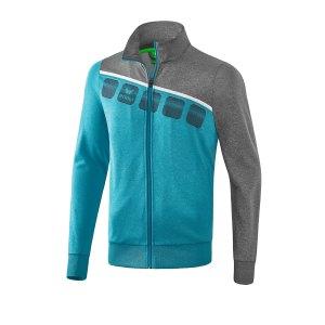 erima-5-c-polyesterjacke-kids-blau-grau-fussball-teamsport-textil-jacken-1021905.png