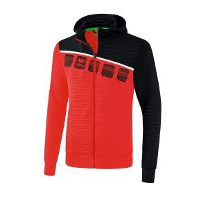 erima-5-c-trainingsjacke-kapuze-kids-rot-schwarz-fussball-teamsport-textil-jacken-1031902.png