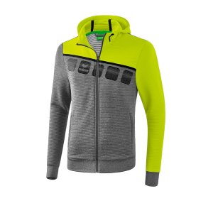 erima-5-c-trainingsjacke-mit-kapuze-grau-gruen-fussball-teamsport-textil-jacken-1031908.png