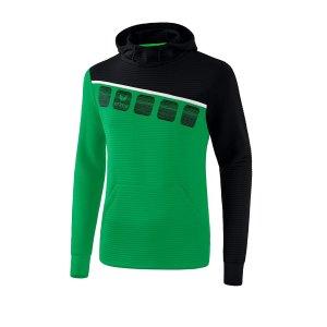 erima-5-c-kapuzensweat-gruen-schwarz-fussball-teamsport-textil-sweatshirts-1071905.png