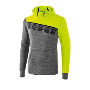 erima-5-c-kapuzensweat-grau-gruen-fussball-teamsport-textil-sweatshirts-1071908.png
