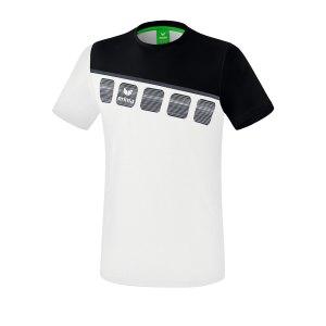 erima-5-c-t-shirt-kids-weiss-schwarz-fussball-teamsport-textil-t-shirts-1081903.png